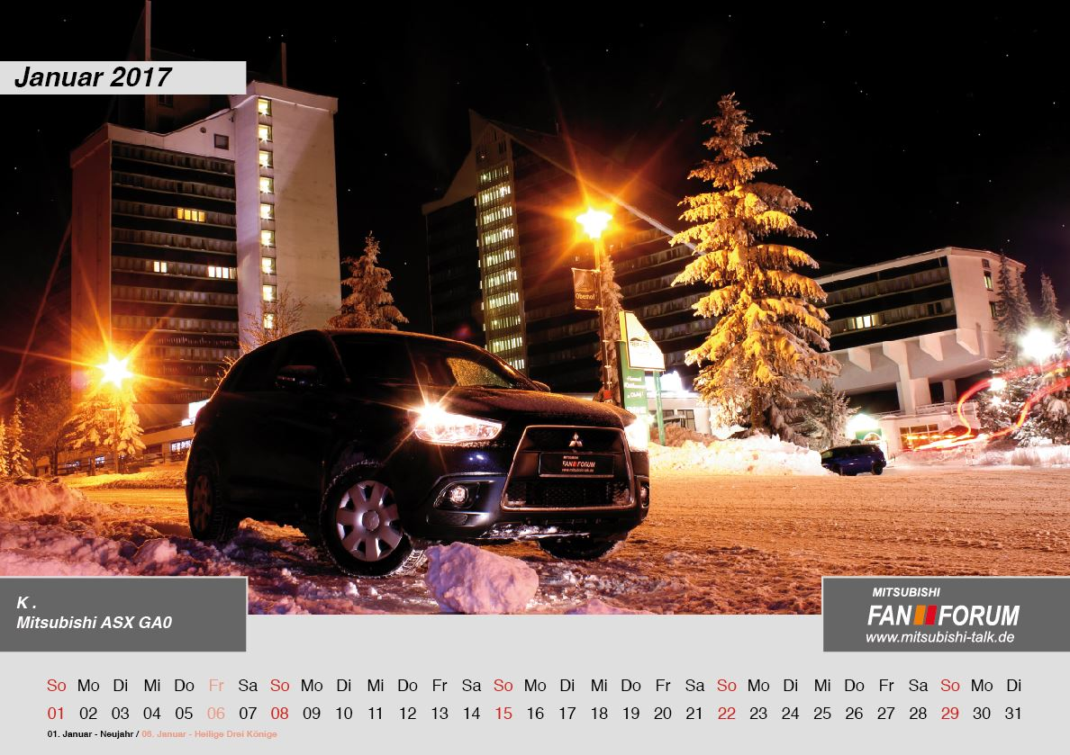 2017 kalender mitsubishi fan forum - rs media