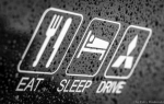 Aufkleber Eat-Sleep-Drive - Mitsubishi